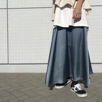 サテン フレアースカート