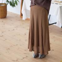 レース編み フレアースカート