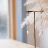 淡水パールとチェーンのイヤリング