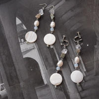 Hand made earrings&pierce -j109