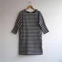 バスクボーダーワンピース(navy × off white)