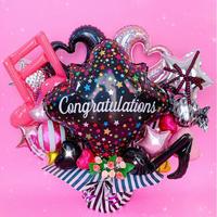 超特大サイズ★ BLACK × PINK アレンジ★ライブ・楽屋バルーンetc★送料無料