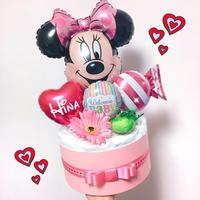 ♥大人気ミニーちゃん♥オムツケーキ♥出産祝い・ベビーシャワーに♪