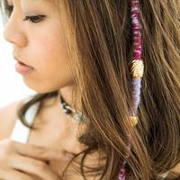 hairwraps / purple&pink