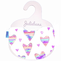 Heart stripes bib