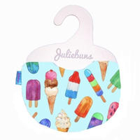 Ice cream in blue  bib