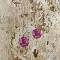 doop 紫の宝石ピアス