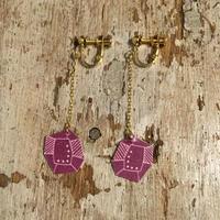 doop 紫の宝石イヤリング