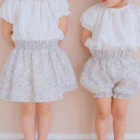 pumpkin pants/ little flower linen