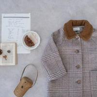 Wool coat / cocoa check