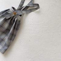 suspender skirt / tropical check
