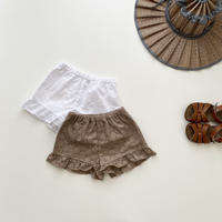 frill pants / circle lace