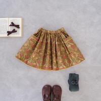 Piping gather skirt / rose <09-35>