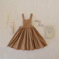 apron pinafore / caramel