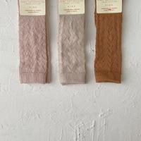 condor / Warm cotton crochet knee socks ( size : 0-2 )