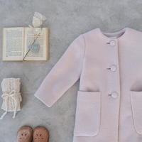 A line coat / cream mauve