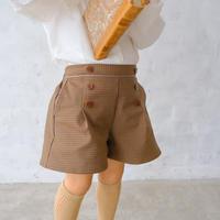 Tuck short pants / chocolate <09-31>