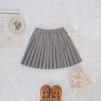 Pleats skirt / monotone <09-34>