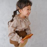 Frill collar blouse / little flower<09-30>