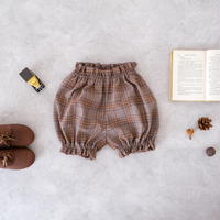 Pumpkin pants / brown check <09-40>