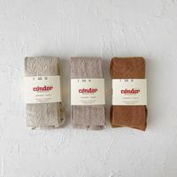 condor / Warm cotton openwork tights ( size : 2-4 )