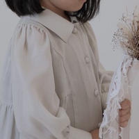 kids Shirt dress / soy cream