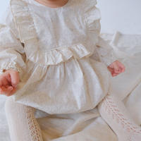 square frill rompers (liberty/mortimer)