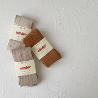 condor / Warm cotton openwork tights ( size : 0-1 )