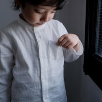 Stand collar shirt / white