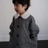 Wool coat / chidori monotone