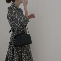 ladies Shirt dress / monotone flower