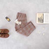 Tapered pants / brown check <09-41>