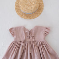 drop shoulder dress / grayish pink