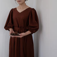 ladies * Puff dress / brick