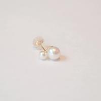K10 pearl rivets single pierce