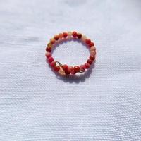 Rhodochrosite toe ring