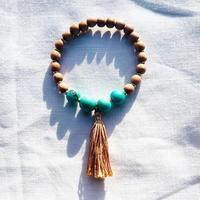 Turquoise  Acai woodbeads  bracelet