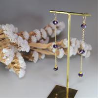 amethyst long pierce