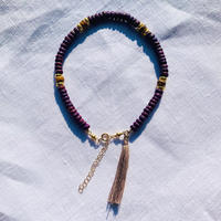 purple woodbeads anklet