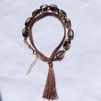 Smokey quartz  fringe bracelet