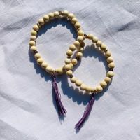 【for Mum and Girl】White woodbeads  bracelet