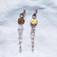 Herkimer-diamond  Moon earring
