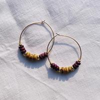 woodbeads pierce ***purple