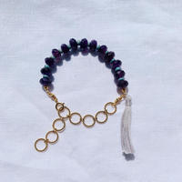 Amethyst ×  babyblue  woodbeads bracelet