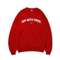 【期間限定受注商品】AIM WITH PRIDE COLLEGE SWEAT RED