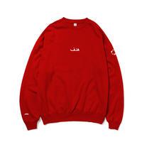 【期間限定受注商品】LIGHTNING WALL CAMO SWEAT RED