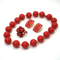 60s  Vintage Necklace  Red《送料無料》
