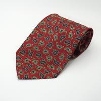 《送料無料》Vintage Paisley Silk Tie Red   (no.291)