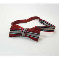 《送料無料》Vintage Red Stripe Bow tie   (no.286)