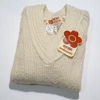 60s Mary Quant for Londonpride Aclyic wool White Jumper  (no.212)